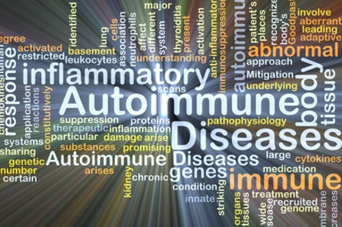Autoimmune disease background concept glowing